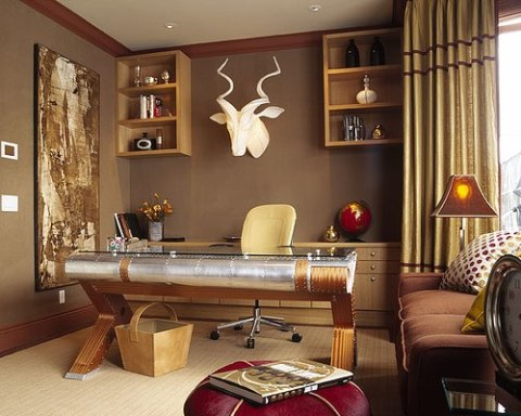 Excellent 33 Stylish And Dramatic Masculine Home Office Design Ideas  DigsDigs
