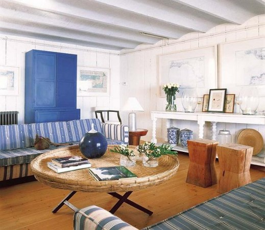 Coastal cottage interior