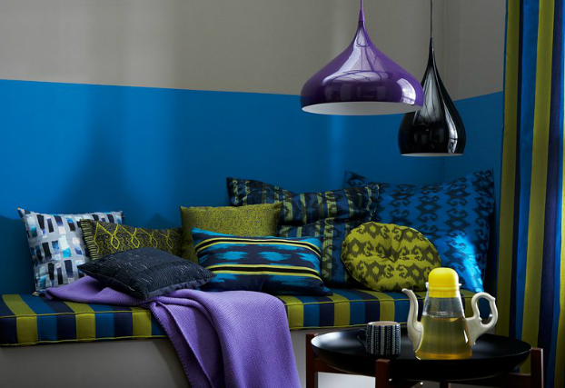Bold colors enliven a space