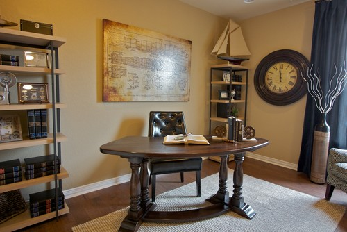 Designing a masculine home office for Home office decorating ideas for men