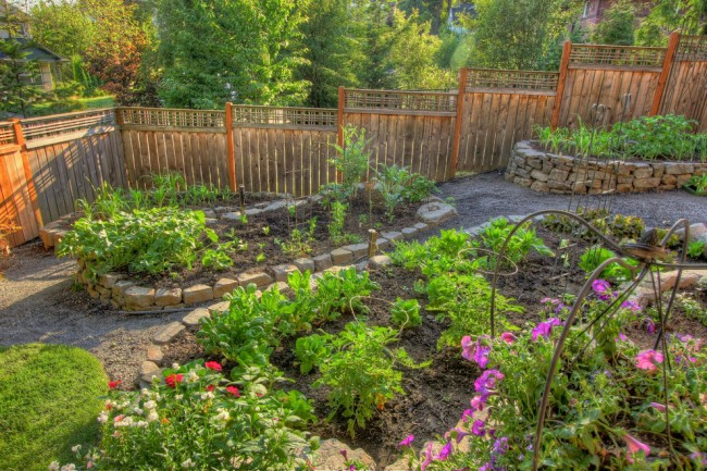 A beautiful garden to meander in makes everything accessible
