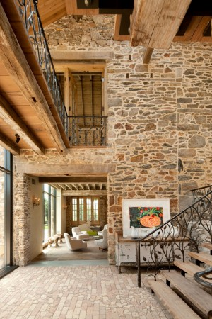 Traditional use of stone in interiors adds old world charm