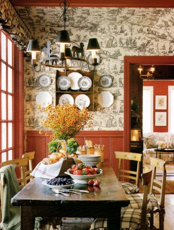 Toile a mainstay of French country interiors