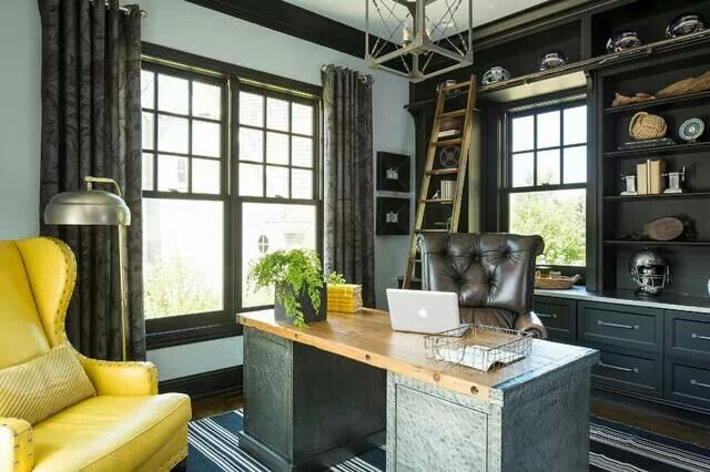 masculine home office. a masculine home office design w