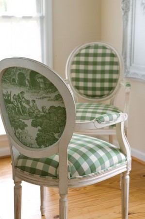 Toile is perfect as an accent fabric