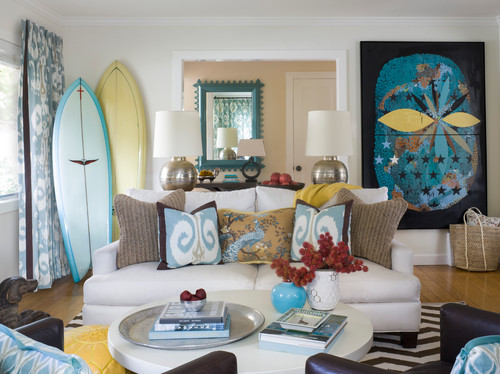 A fun coastal cottage