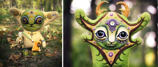 Amazing hand made alien dolls by Maryana Kopylova (1)