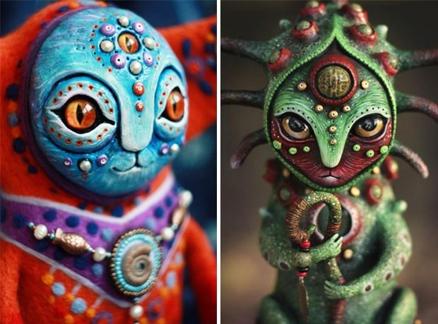 Amazing hand made alien dolls by Maryana Kopylova (22)