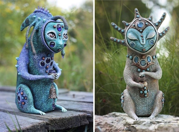 Amazing hand made alien dolls by Maryana Kopylova (23)