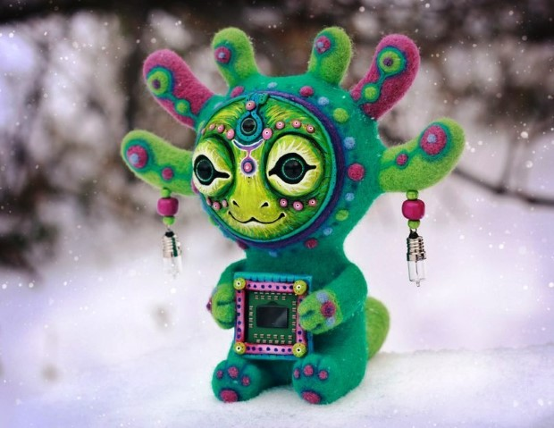 Amazing hand made alien dolls by Maryana Kopylova (3)