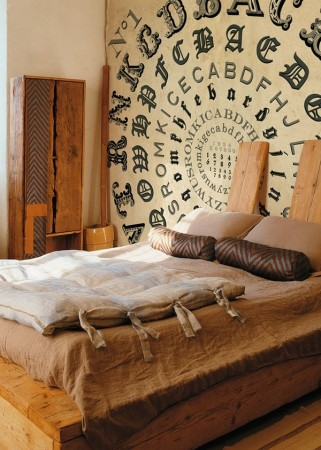 A creative touch for the bed wall