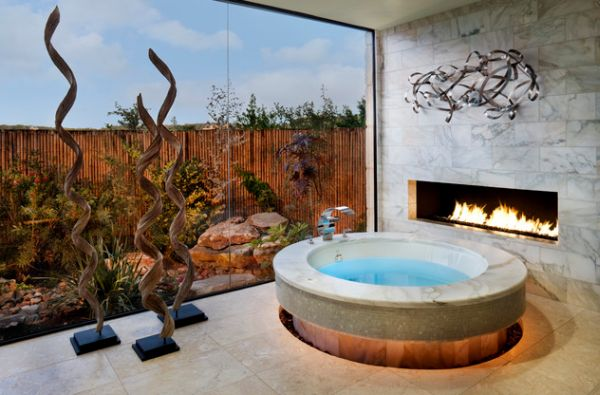 Imagine a long soak in this scenic bath