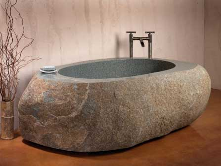 Hard surface tub makes a statement