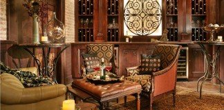 Wine room perfect for tastings