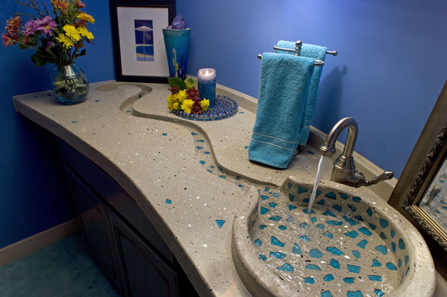 A unique sink and vanity design