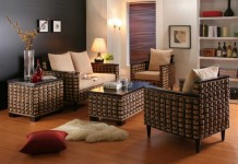 Rattan is a stylish option for indoor seating