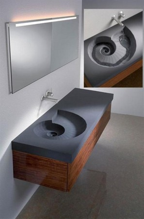 Shell inspired sink