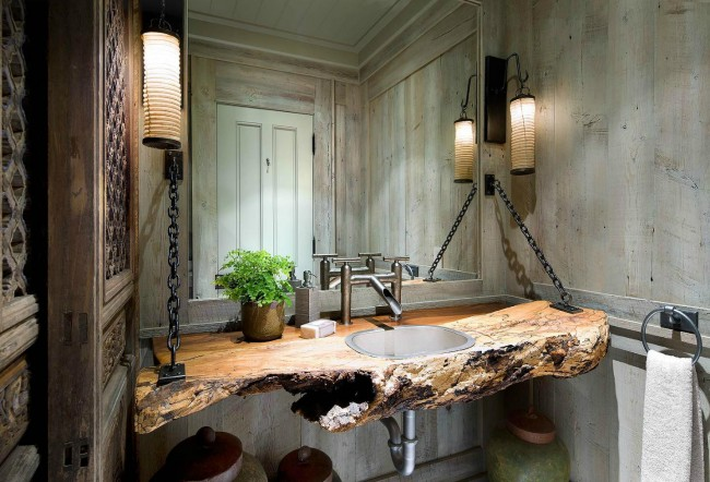 Statement vanity sets this bathroom apart