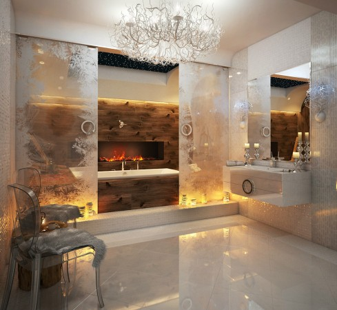 Luxurious spa-like bathroom