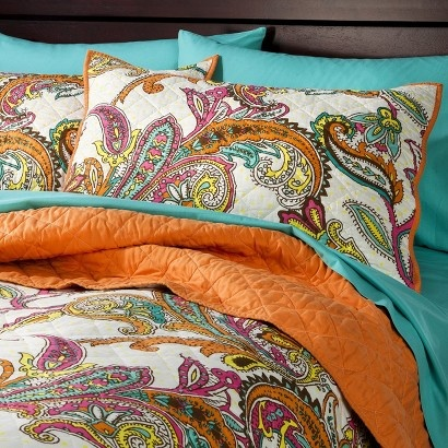 Fun, modern paisley bedding