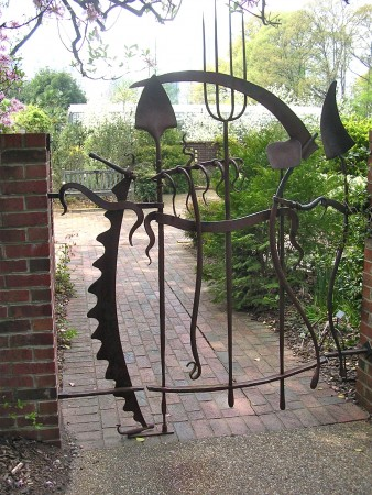 Wonderful iron garden gate