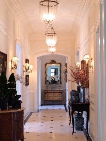 Sconces further enhance this hallway
