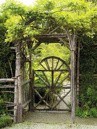 Pretty rustic garden gate