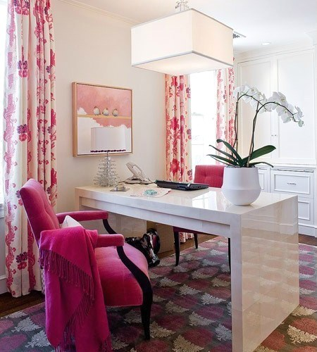 21 Feminine Home Office Designs Decorating Ideas: Home Office Design Tips For Her