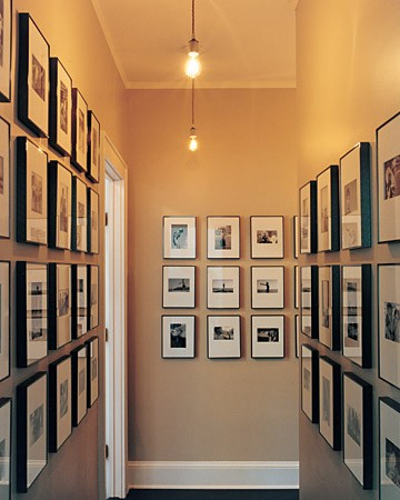 The hallway as photo gallery
