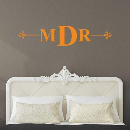 Monogrammed wall decals