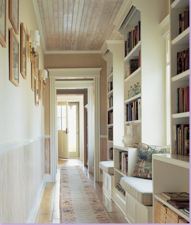 Built-in bookcases add character and provide additional book storage