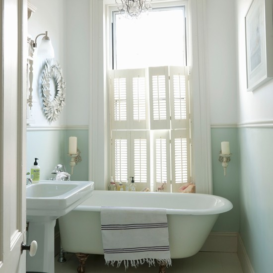 How To Create The Perfect Pastel Bathroom. Freestanding Bath In Small Bathroom   Poxtel com