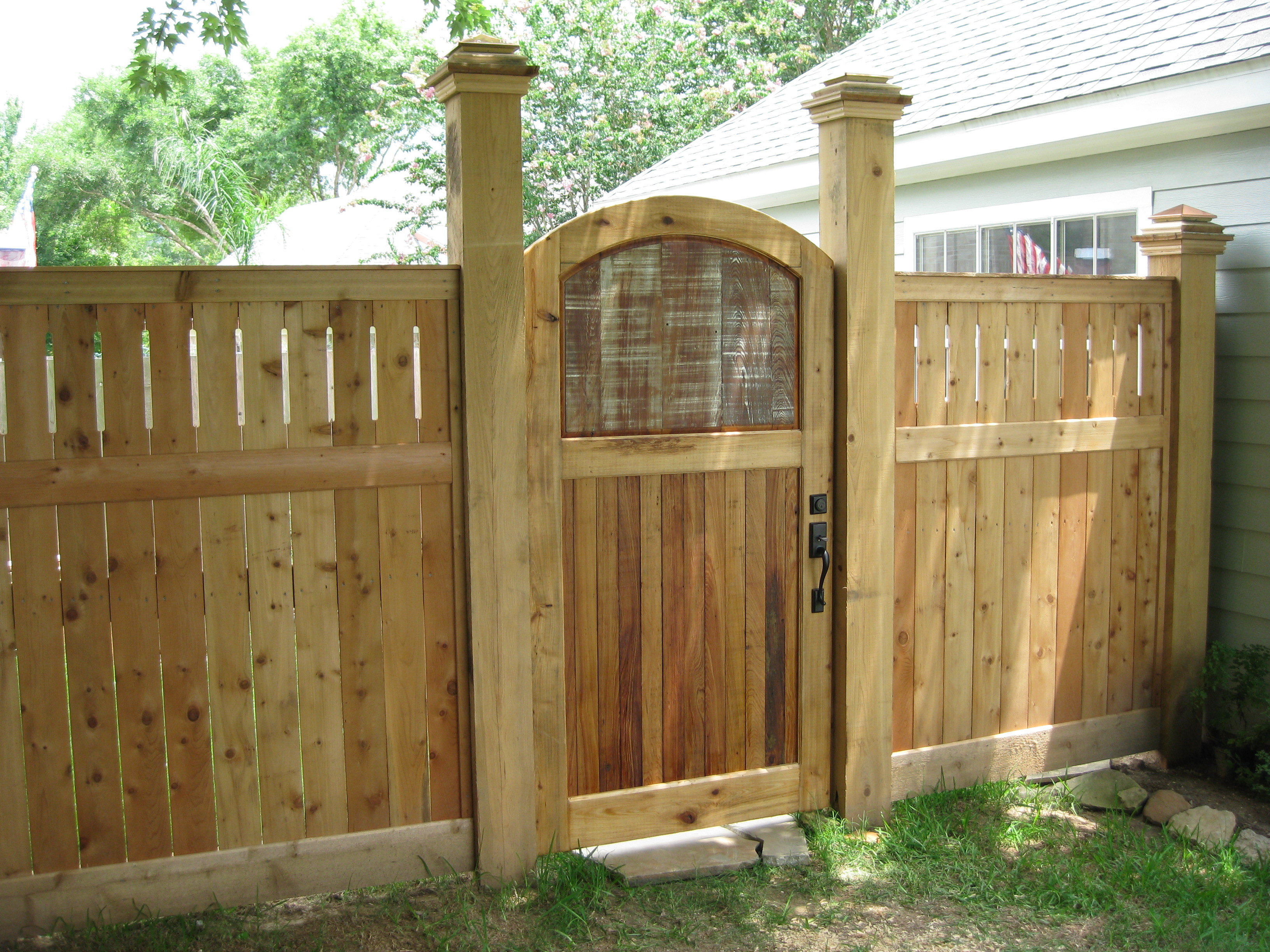 Traditional Wood Garden Gate