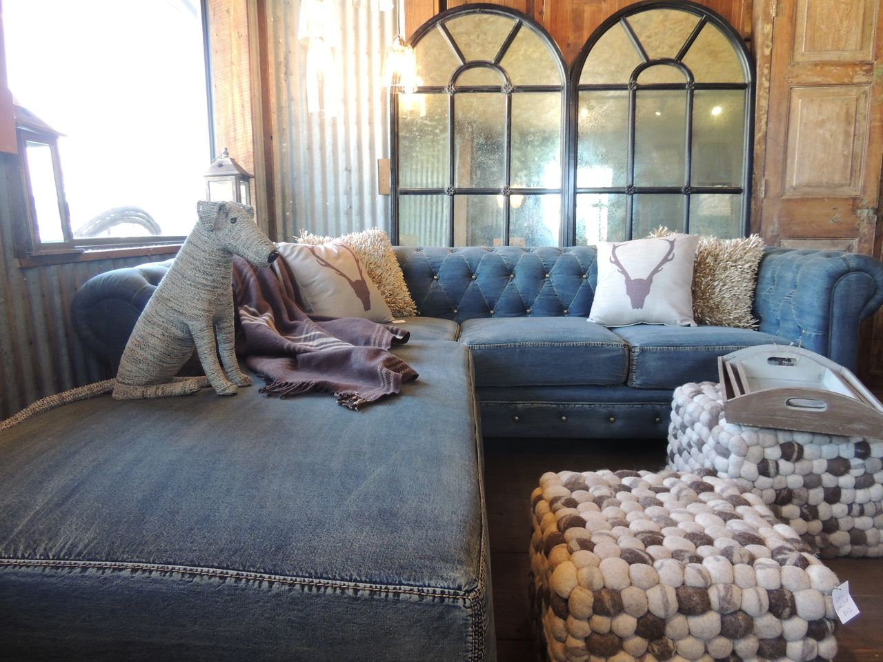 Indigo blue and denim for your home Denim couch and loveseat