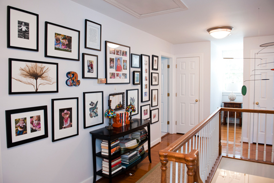 Use the hallway as a family photo display