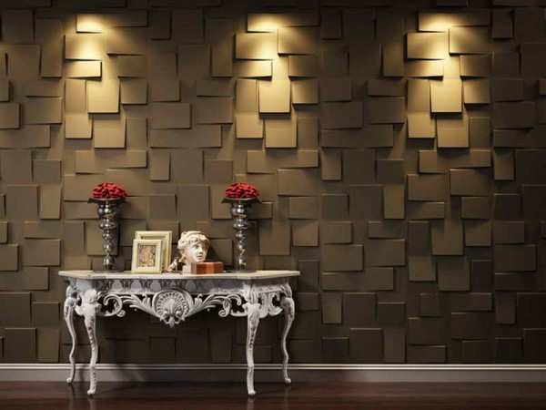 3D wall panels are a dramatic feature