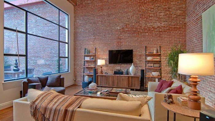 Brick is a common element in converted loft homes