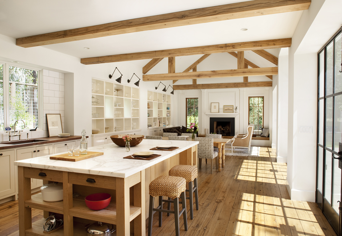 Modern farmhouse style a little bit country a little for Open kitchen style