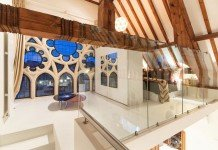 Beautiful open design of a church home conversion