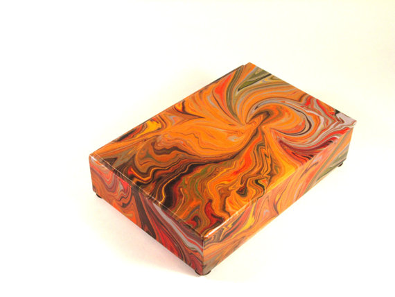 Beautiful marbleized decorative box
