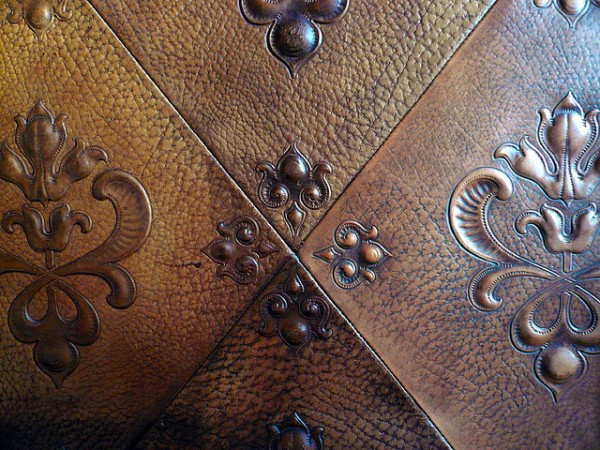 Beautiful leather wall tiles