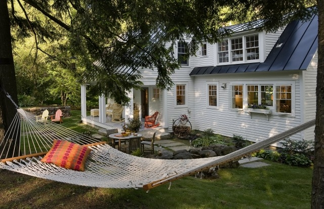 Enjoy a few hours of relaxation in a backyard hammock