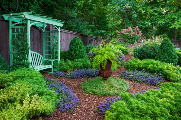 A pergola offers a charming garden accent and a place to retreat