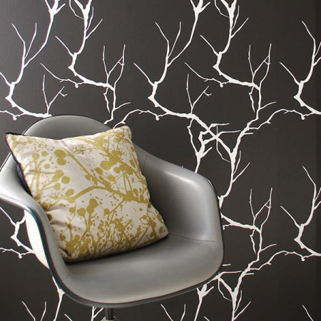 Branches wallpaper gives a new dimension to interiors