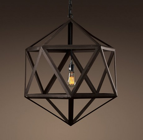 A simple geometric shape adds modern kick to this fixture