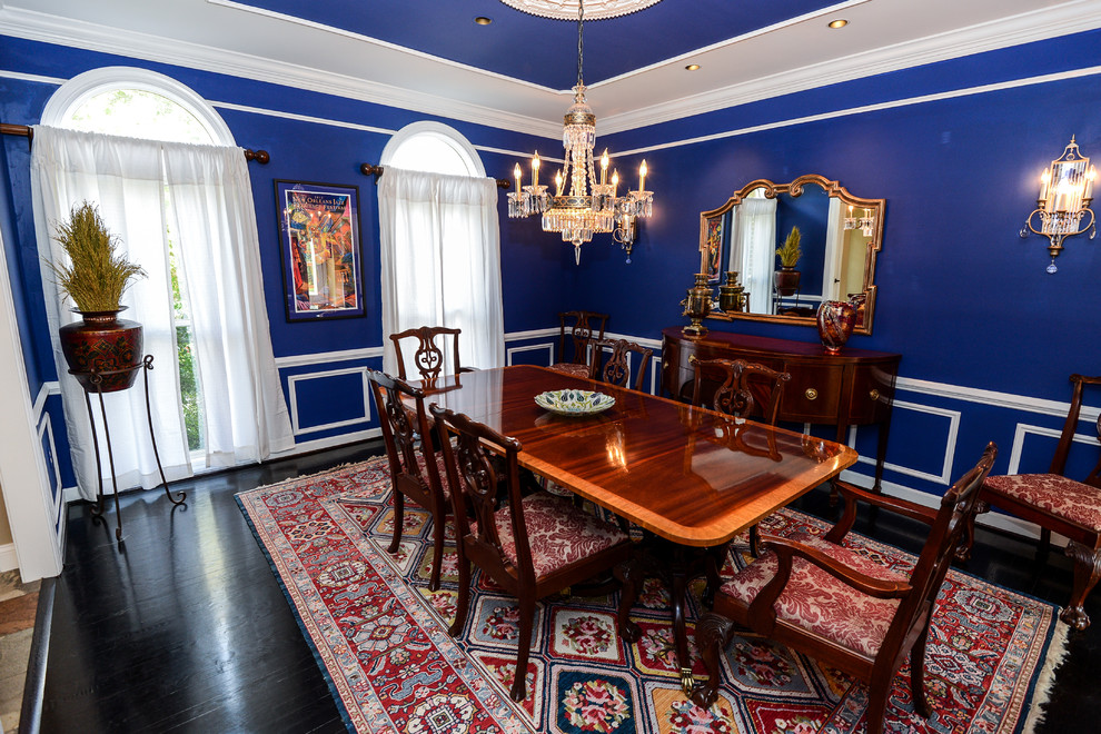 An interior design tribute to blue for Dining room ideas in blue