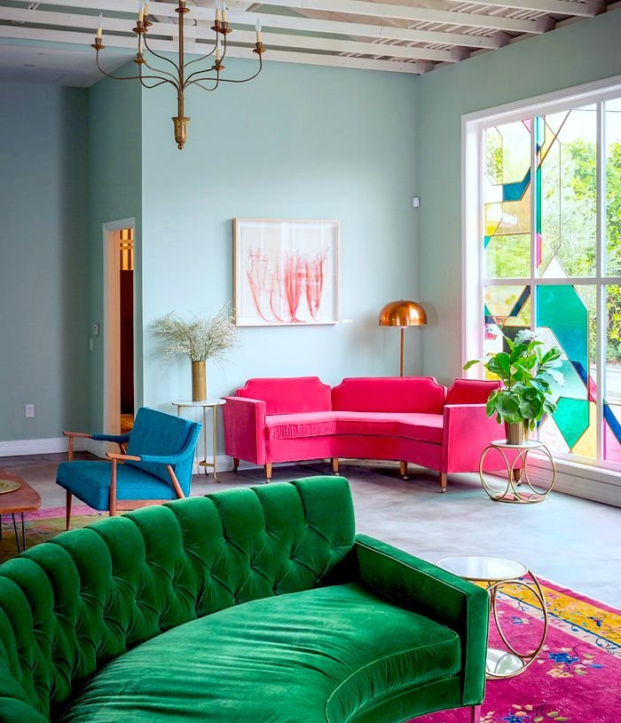 home decor ceiling designs for bedrooms bright jewel tones create a balanced and vibrant modern room elle - Home Decorating Ideas For Bedrooms