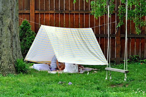 Bring back childhood memories in a home-made tent