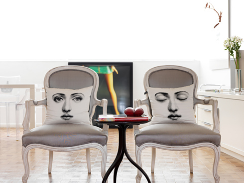 Make a statement with Fornasetti pillows