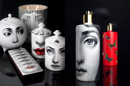 A line of accessories featuring Fornasetti's design